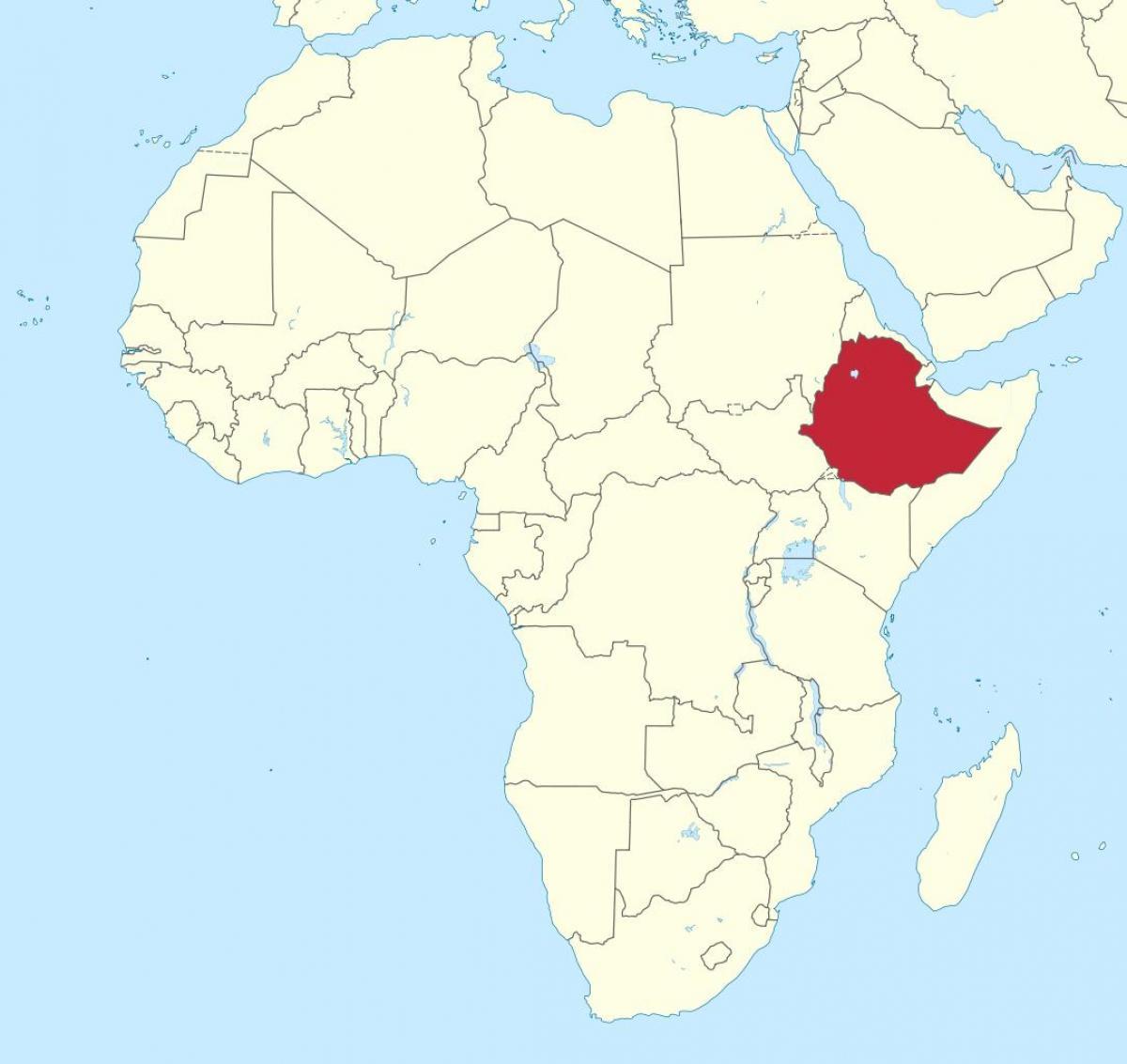 Cartina Dell Africa Orientale.Etiopia Africa Mappa Mappa Dell Africa Mostrando Etiopia